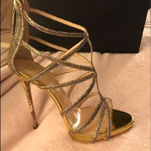 Brand New Gold Giuseppe Heels With Box & Dustbag